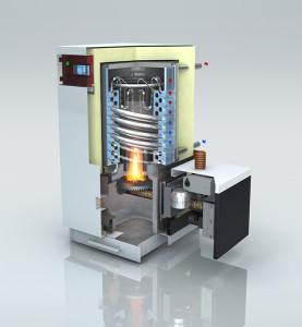 Chuadière à pellets à condensation BioCurve