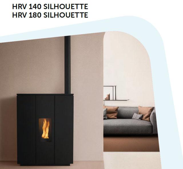 Ravelli - Poêle à Pellets - HRV 140 Silhouette